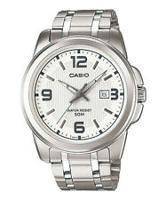 Casio MTP-1314D-7A Stainless Analog Watch MTP1314 Big Face XL White Dial COD PP
