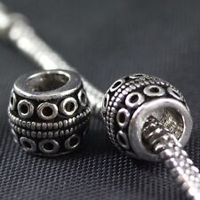 925 Sterling Silver Tribe Design European Bead Charm / Spacer - 3g, 10mm EB0145