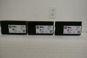 Lot HP 950XL Color Ink Cartridge Black & 951XL Cyan & Magenta ~ Expired 06/2019