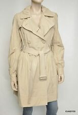 Esprit Double-Sided Belted Trench Coat Jacket Parka Top Beige L New $160
