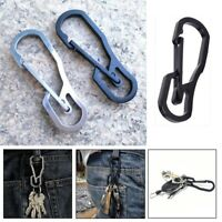 Stainless Steel Climbing Carabiner Key Ring Hook Camping Clip Keychain Holder