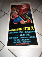 ANNO 2118 PROGETTO X WILLIAM CASTLE LOCANDINA SCI-FI,GEORGE BALDWIN