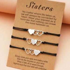 3 Pieces Set Matching Bracelets for Best Friends  Girls Friendship Jewelry
