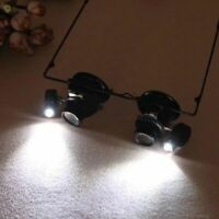 20X Magnifier Magnifying Eye Glass Loupe Jeweler Watch Repair with LED Light uE
