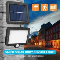 56LED Solar Power Motion Sensor Security Lamp Outdoor Waterproof Light Garden