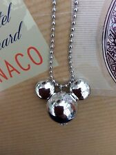 FREE GIFT BAG Silver Plated Mickey Minnie Mouse Disney Necklace Chain Xmas Cute