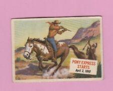 1954 Topps Scoop #46 Single Print # Pony Express Starts