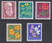 Switzerland 1959 MNH Mi 687-691 Sc B287-B291 Flowers.Karl Hilty,philosopher