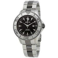 Invicta Sea Base Black Dial Stainless Steel Mens Watch 17973