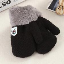 Lovely Winter Baby Kids Boy Girl Warm Thicken Fur Gloves Mittens On String New S