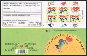 Finland 906a booklet,MNH.Michel 1198 MH 32. Friendship,1993.Bird,flowers