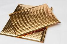 13.75X11 Gold Color Metallic Glamour Bubble Mailers Padded Envelope Bags 50 Pcs