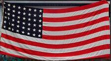 WWII Vintage 48 star no 6 Ensign U.S.  Flag 16' X 8'