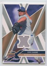 2008 UPPER DECK X GAME-USED JERSEY ERIC GAGNE BREWERS *52525