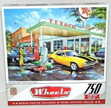 Wheels Pop's Quick Stop 750 Pc Jigsaw Puzzle NEW Gas Station Camaro Muscle Car