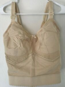 Goddess 1304 38DD Bra Bustier Long Line Wire Free Soft Cup Pinup Vintage