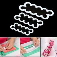 3D Cake Rose Petal Flower Cutter Mold Fondant Icing Decor Mould Sugar Craft Tool