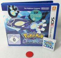 Pokemon Alpha Saphir Sapphire   Nintendo 3DS   New 3DS  XL   2DS   gebraucht