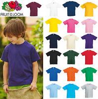 T-Shirt Bimbo Bambino unisex Fruit Of The Loom -  Maglietta manica corta Bambina