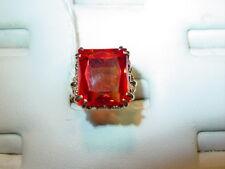 18k Yellow Gold Rose Colored Corundum Ring- Beautiful Mounting-Size 7