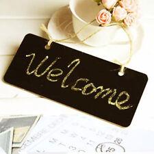 2 PCS Sign Wedding Hanging Chalkboard Wooden Message Label Mini Blackboard