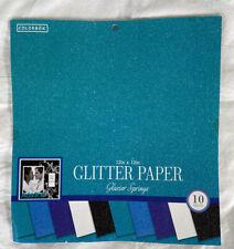 Colorbok Glacier Springs Glitter Scrapbook Paper Pad-12x12-New-10 Sheets-Blues