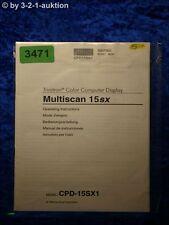 Sony Bedienungsanleitung CPD 15SX1 Multiscan 15sx (#3471)