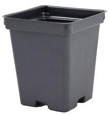 """4.25"""" Deep Black Square Greenhouse Pots P107D Case 375"""