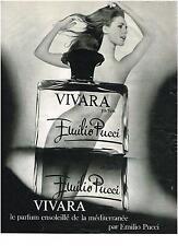 PUBLICITE  1969   EMILIO PUCCI   parfum VIVARA