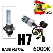 BOMBILLA XENON H7 6000K BASE METAL 12V 35W HID 1 AÑO GARANTIA 4 DE EXPERIENCIA