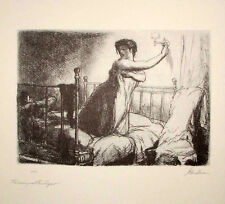 Turning Out the Light, after John Sloan, Vintage Print