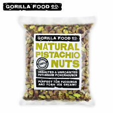 Gorilla Food Co. California Pistachios Shelled Nutmeats Kernels Raw Unsalted-1lb