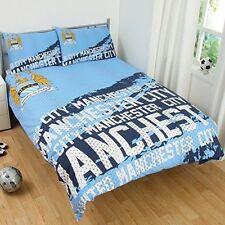 Official Manchester City F.C.Impact Double Duvet Cover Bedding Set
