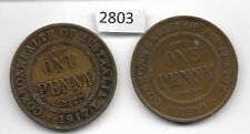 1917 & 1919 Australian Pennies