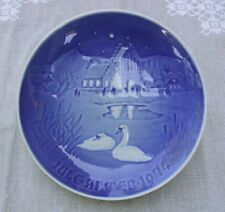 "Bing & Grondahl of Denmark 1974 Christmas Plate ""Christmas in the Village"""