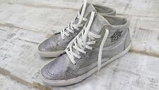 REPLAY-RV380005S-Silver-Metallic-Shining-Women's Sneackers /US 8 /E U R 39 Black