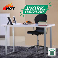 New White Hi High Gloss Workstation Work Computer Reception Desk /Writing Table