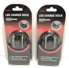 Tosa Led Charge Dock for Playstation 3 Controller New Lot of 2