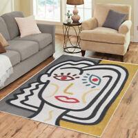 Retro Area Rugs Scandinavian Vintage Funky Boho Carpet - 3 Sizes to Choose From