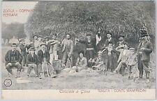 CARTOLINA d'Epoca -  FERRARA provincia: ZOCCA - COPPARO Scena di Caccia a Giove