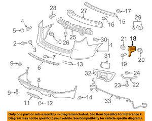 GM OEM Rear Bumper-Outer Support Left 20986149