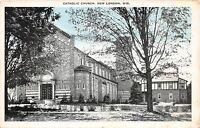 NEW LONDON WISCONSIN CATHOLIC CHURCH POSTCARD 1930s