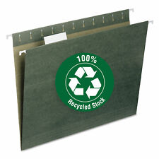 Smead Recycled Hanging File Folders 15 Tab 11 Point Stock Letter Green 25box