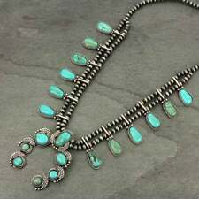 *NWT* Full Squash Blossom Natural Turquoise Necklace 731570089
