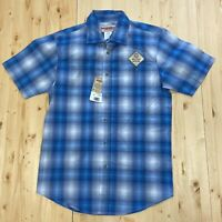 Wrangler Performance Men's Moisture Wicking Short Sleeve Plaid Shirt Size Medium