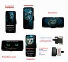 Cheshire Cat Crazy All Mad Quotes leather phone case for Huawei Samsung