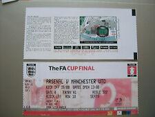 2005 F. A. Cup Final ticket Manchester United contre Arsenal en parfait état.