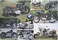 """BMW """"9 CLASSIC GERMAN MOTORCYCLES"""" POSTER FROM ASIA"""
