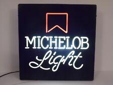WORKING VINTAGE 1980s MICHELOB BEER BLACK PLASTIC LIGHT UP ADVERTISING SIGN VTG