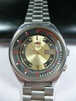 Vintage ORIENT SK Crystal Automatic 21 jewels Japan Men Wrist Watch Rare